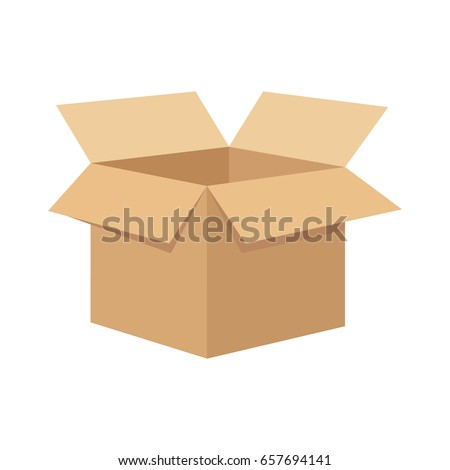Open flat box. Royalty-Free Stock Photo #657694141