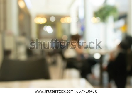 Blurred cafe background with bokeh light  #657918478