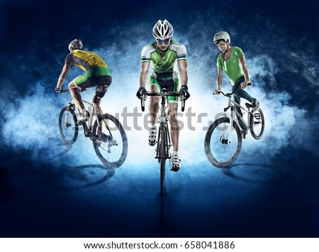 Sport backgrounds. Cyclist. Isolated. #658041886