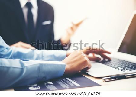 Image of business man using laptop #658104379