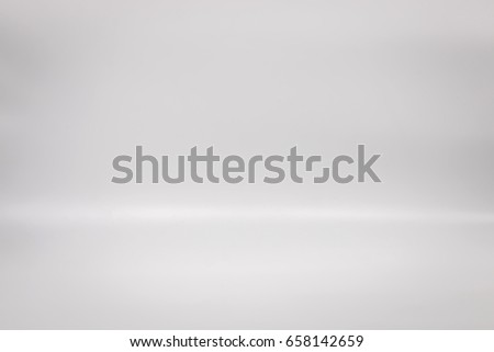 White backdrop for your product. Studio floor background. Blank interior gray scene.