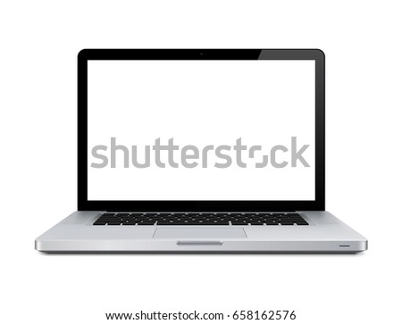 Notebook. Vector. Realistic isolated model - vector stock. #658162576