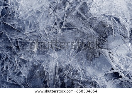 Transparent ice crystals texture cracked background #658334854