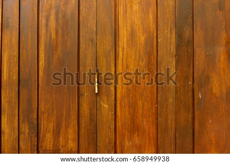 old wooden wall with lock #658949938