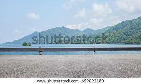 Empty street at the sea. #659092180