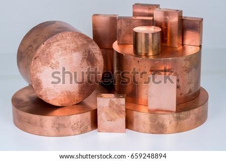 Copper scrap bars and plates #659248894