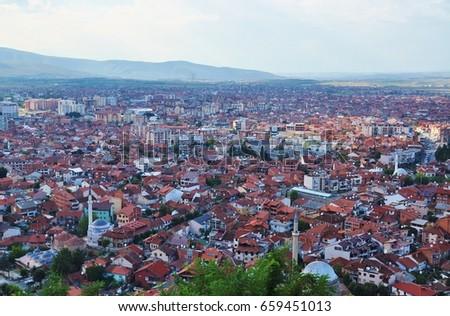 Panoramic view of Prizren, Kosovo  #659451013