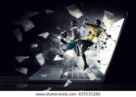 Football hottest moments Royalty-Free Stock Photo #659535280