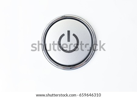 Close-up button switch on the washing machine. On-Off the washing machine.Isolated Royalty-Free Stock Photo #659646310