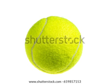 Tennis ball isolated on white background Royalty-Free Stock Photo #659857153