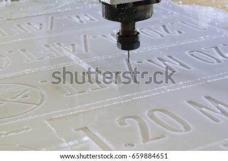 Machine working CNC