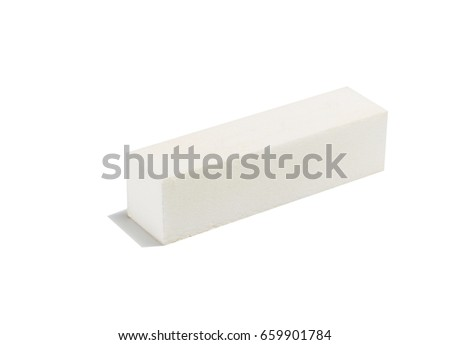 Very delicate nail file for nail care on a white background #659901784