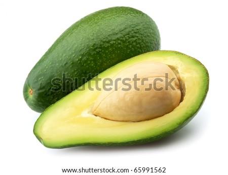 Ripe avocado on a white background #65991562