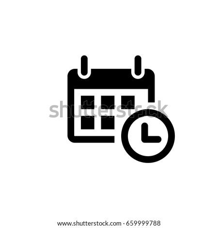 calendar - Vector icon Royalty-Free Stock Photo #659999788