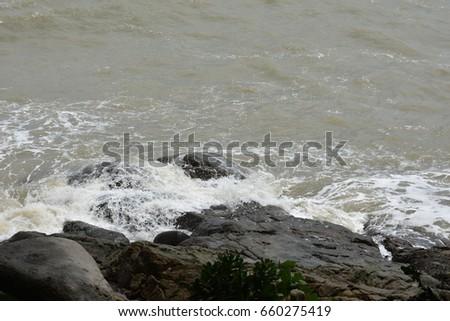 Stormy sea #660275419