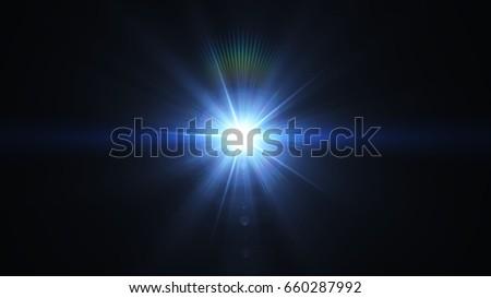 Flare Light overlays on black background. Royalty-Free Stock Photo #660287992