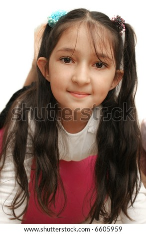 Sight of the nice girl with long black hair #6605959