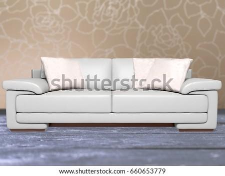 Sofa in living room. #660653779