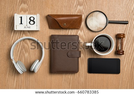 Fathers day composition. Gift Ideas for Dad #660783385