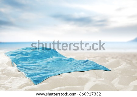 Summer time and empty towel place  #660917332
