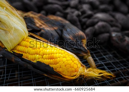Grilled sweetcorn #660925684