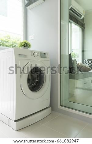washing machine in home #661082947