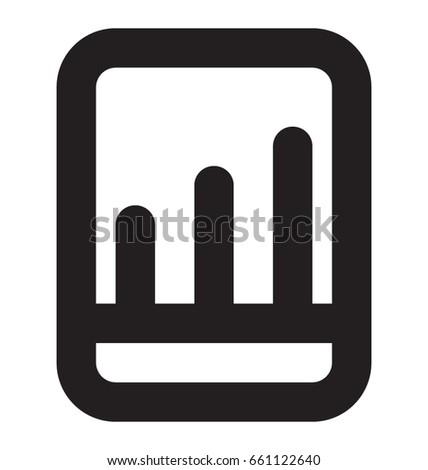 Mobile Graph Vector Icon #661122640