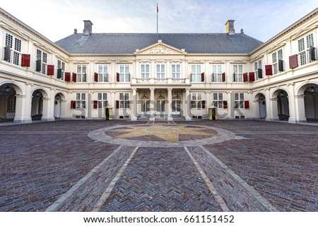 Dutch king and queen residence in The Hague where they celebrate the opening of the parliament in September, Netherlands