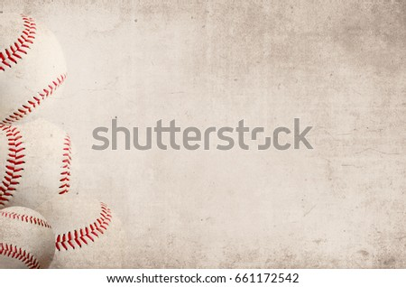Vintage style sports image with baseball border and antique background. Perfect for ball player graphic.