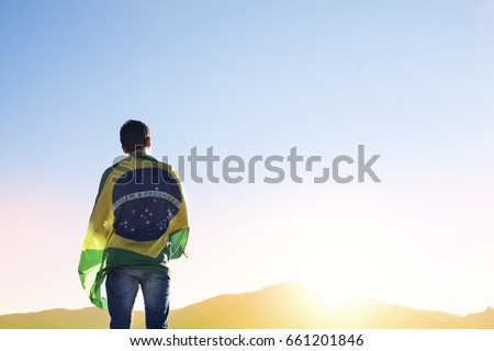 Flag Brazil Royalty-Free Stock Photo #661201846