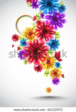 Colorful Spring Element