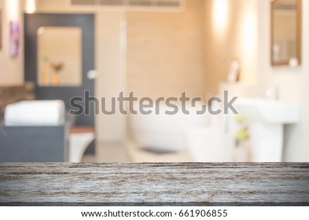 Abstract blur modern  bathroom interior background  #661906855