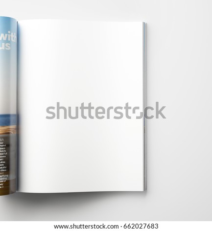 Magazine page concept Royalty-Free Stock Photo #662027683
