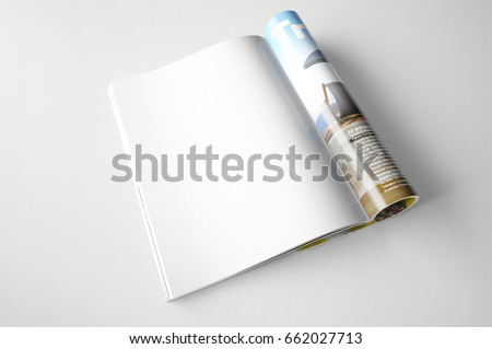 Magazine page concept Royalty-Free Stock Photo #662027713