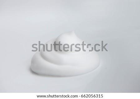 Shaving foam, close up detailed image #662056315