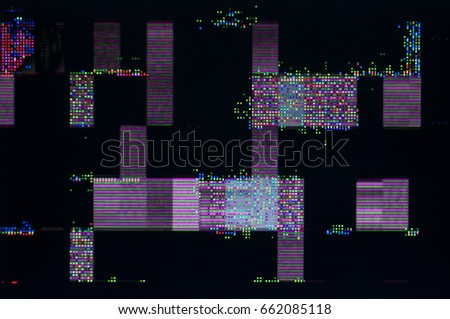 Abstract background, pixel patterns of a digital noise./ Pixel pattern of a digital glitch