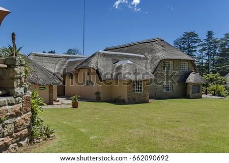 Royal Natal Park - December 2, 2011: Rest house at Royal Natal Park in Drakensberg mountain, South Africa #662090692