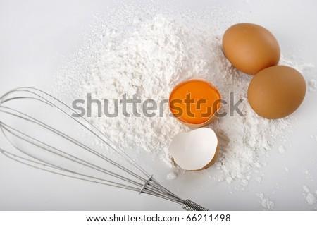 egg with flour #66211498