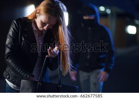 stalker persecuting woman #662677585