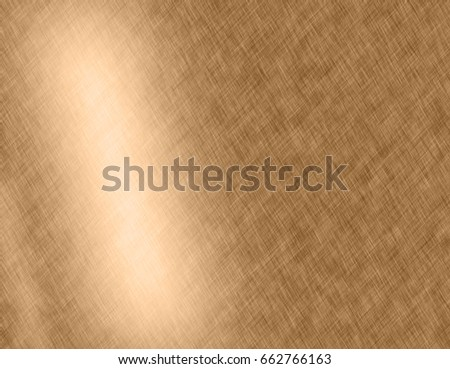 Gold metal brushed background or texture of brushed steel plate with reflections Iron plate and shiny #662766163
