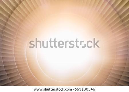 Spotlight flash from lighting studio box for texture background