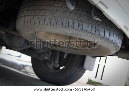 tire spare wheel of vehicle car transportation #663145450