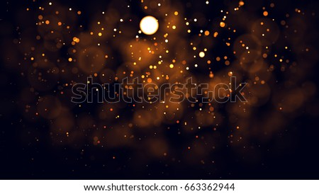 Gold abstract bokeh background. real backlit dust particles with real lens flare. #663362944