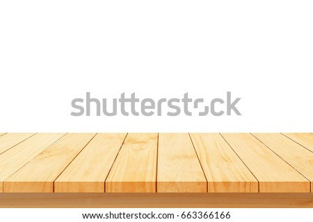 Wood floor texture isolated on white background For create product display or design key visual layout.clipping path #663366166
