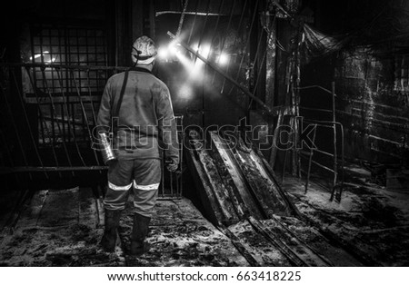 Miner in a coal mine. Mining #663418225