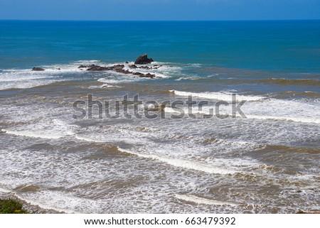 The shore of the Atlantic Ocean, Sidi Ifni, Southwest Morocco #663479392