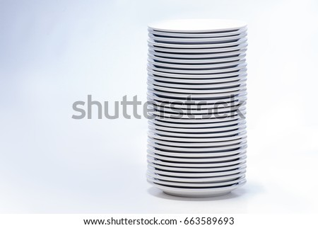 Stack of plates, isolated on white #663589693