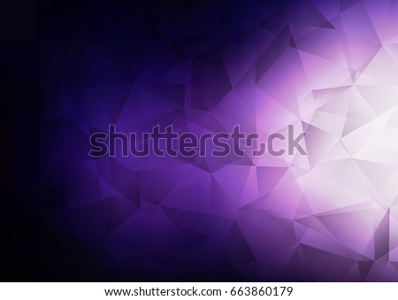 Dark Purple vector abstract mosaic template. A completely new color illustration in a vague style. The textured pattern can be used for background.