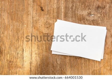 blank business card for professional,white paper card mock up with copy space for text template. #664001530