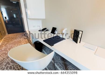 Luxury hotel room interior #664355098